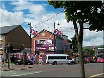 J3274 : The junction of Northumberland Street and Shankill Road by Eric Jones