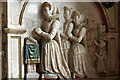 SJ3454 : All Saints Church, Gresford - monument to Katherine Trevor (detail) by Mike Searle