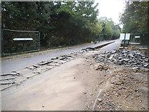 TQ2087 : Road works on Salmon Street, Kingsbury by David Howard