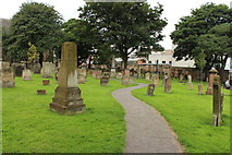NS3321 : Path in the Auld Kirk Graveyard, Ayr by Billy McCrorie
