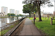 NS3321 : Riverside Footpath at the Auld Kirk, Ayr by Billy McCrorie