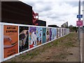 TQ3784 : Advertisements, Queen Elizabeth Olympic Park by Jim Osley