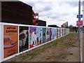 TQ3784 : Advertisements, Queen Elizabeth Olympic Park by Julian Osley