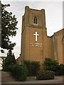 TQ3866 : St Francis church: bell tower by Stephen Craven