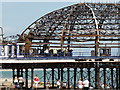 TV6198 : Eastbourne Pier, the day after the fire by PAUL FARMER