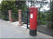 NT9953 : Post box, Berwick-upon-Tweed railway station by Graham Robson
