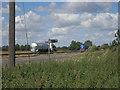 TL3665 : Bridleway sign off A14 by Hugh Venables