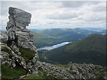NN2505 : The central peak of The Cobbler by David Medcalf