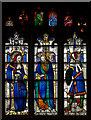 SP1501 : Stained glass window,N.V, St Mary's church, Fairford by J.Hannan-Briggs