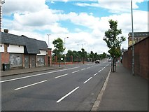 J3275 : Crumlin Road approaching the junction with the now permanently closed Flax Road by Eric Jones