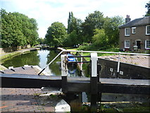 TQ1479 : Looking down from the fourth of the Hanwell Flight of six locks by Marathon