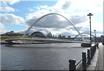 NZ2564 : Newcastle Quayside at The Millennium Bridge by Anthony Parkes
