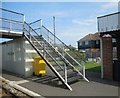 TR0929 : Stairs to Footbridge at Dymchurch Station by Paul Gillett