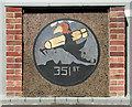 TM1881 : RAF Thorpe Abbotts - 351st Bombardment Squadron plaque by Evelyn Simak