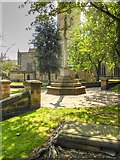 SK3871 : Cross in St Mary's Churchyard by David Dixon