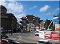 SJ3589 : Gateway to China Town Liverpool by Steve  Fareham