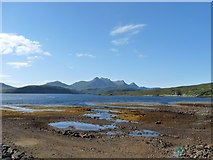 NC5759 : Kyle of Tongue with Ben Loyal on the horizon by Alan Reid
