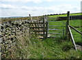 SD7564 : Footpath gate on the path from School Lane to Black Bank by Humphrey Bolton
