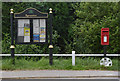 SK7368 : Egmanton, village notice board and postbox, ref NG22 104 by Alan Murray-Rust