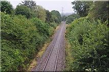 SS5726 : Chapelton : Railway Line by Lewis Clarke