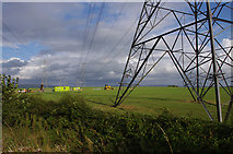 SD4260 : Wind turbine construction site, Middleton by Ian Taylor