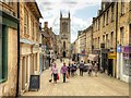 TF0307 : Ironmonger Street and the Church of St Michael the Greater, Stamford by David Dixon