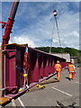 NT4935 : Borders Railway works, Galashiels by Walter Baxter