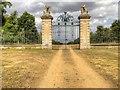 SK9237 : Belton Estate, The Lion Gates by David Dixon