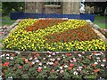 SO8454 : Floral display, St Andrew's Gardens by Philip Halling