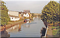 TL3514 : Ware: eastward on River Lea Navigation, 1990 by Ben Brooksbank