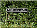 TM3197 : Wheelers Lane sign by Adrian Cable