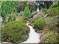 SZ0589 : Path through Heather Garden by Paul Gillett