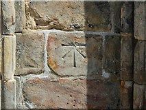 NS4863 : Paisley Abbey: bench mark by Lairich Rig