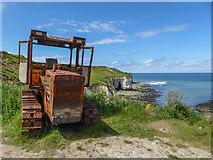 TA2372 : Old Tractor, North Landing, Yorkshire by Christine Matthews