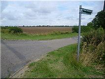 TL3160 : Footpath near Cambourne by Marathon
