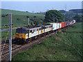 NY5520 : Trains at Thrimby Bridge (WCML) - 1992 (3) by The Carlisle Kid