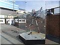 TQ3884 : Metal sculpture on Stratford Station by Stephen Craven