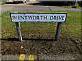 TL0652 : Wentworth Drive sign by Adrian Cable