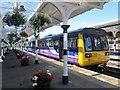NY9464 : Hexham Station, Platform 2 (3) by Mike Quinn