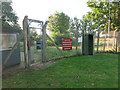 TL4966 : Waterbeach Barracks turnstile by Hugh Venables