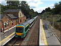 TQ4644 : Train leaving Hever Station by Malc McDonald