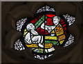 ST5545 : Medieval stained glass, Wells Cathedral by Julian P Guffogg