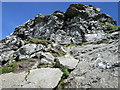 NN2605 : A steep section nearing the north top of �The Cobbler� by Peter S