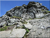 """NN2605 : A steep section nearing the north top of """"The Cobbler� by Peter S"""