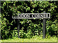 TM2996 : Loddon Corner sign by Adrian Cable