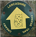 SD6443 : Route marker, the Creamy Lancashire Cheese Trail by Karl and Ali