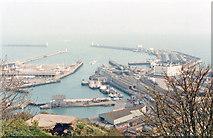 TR3140 : Dover Port: Western Docks and Marine Station, 1989 by Ben Brooksbank