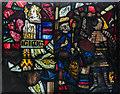 SO7137 : Fragments of Medieval Glass, St Michael's church, Ledbury by Julian P Guffogg