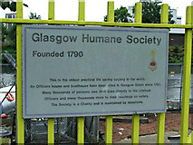 NS5964 : Glasgow Humane Society plaque by Thomas Nugent