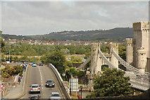 SH7877 : Conwy bridges by Richard Croft